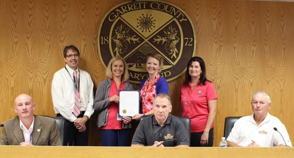 October is Declared Breast Cancer Awareness Month in Garrett