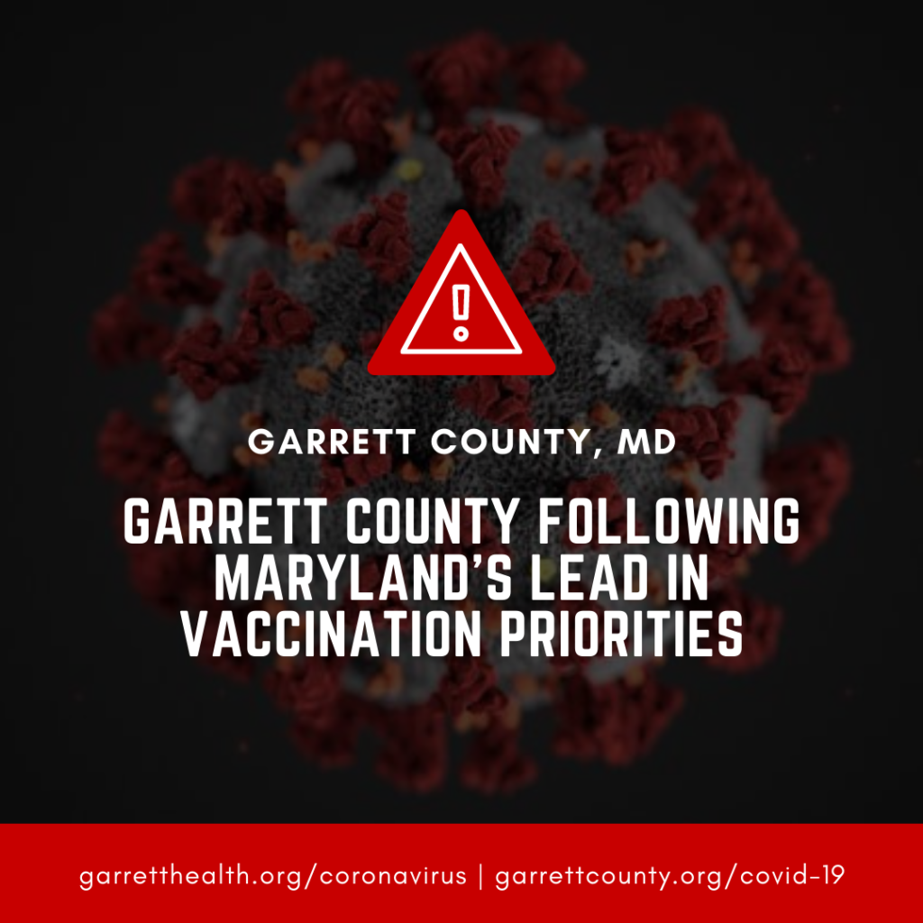 Garrett County Following Maryland's Lead in Vaccination Priorities