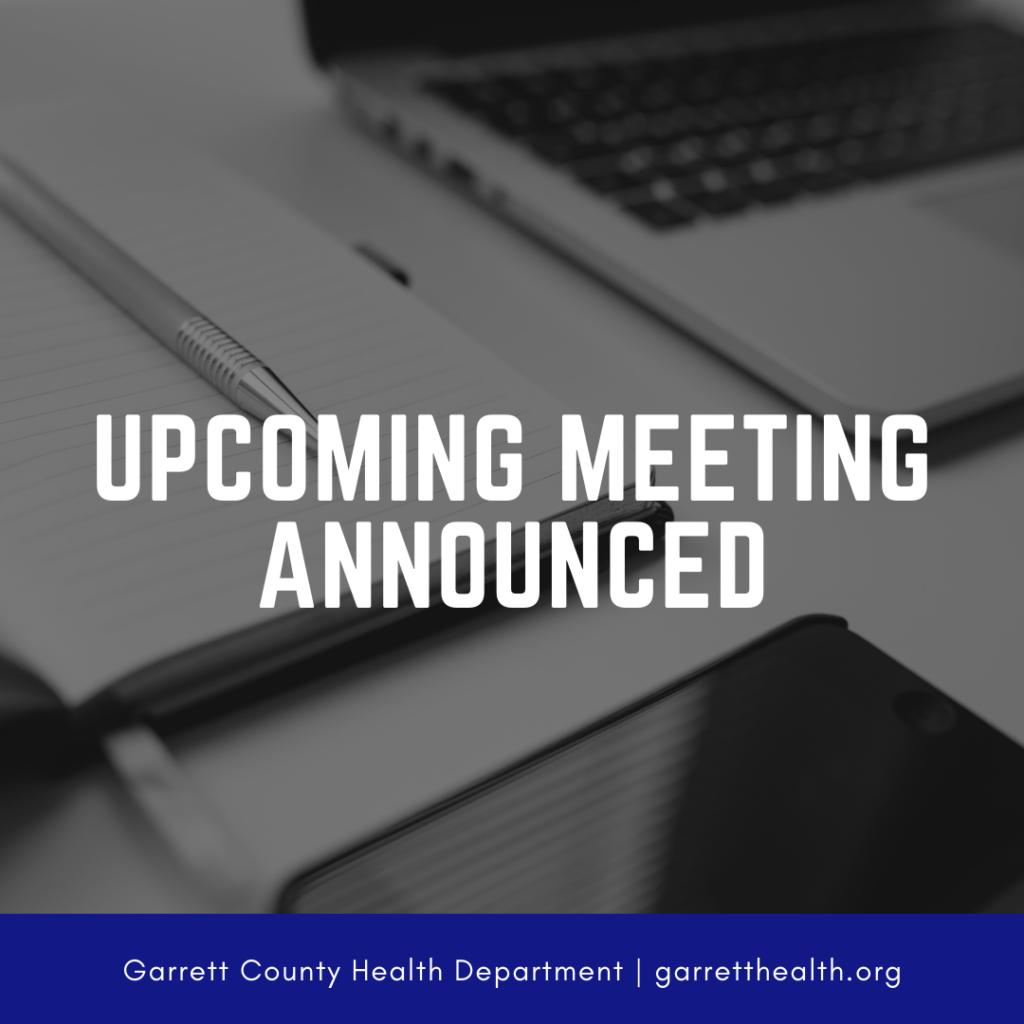 Upcoming Meeting